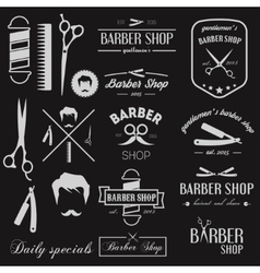 Set of logo elements icons and logotypes for vector