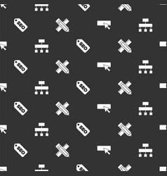 Set ui or ux design site map seo optimization vector