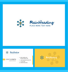 share idea logo design with tagline front and vector image