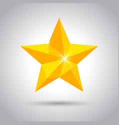 shiny yellow star icon vector image