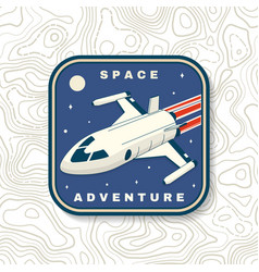 Space adventure logo badge patch vector