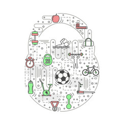 sport kettlebell shaped in vector image