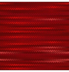 Style Seamless Knitted Melange Pattern Red Color vector image