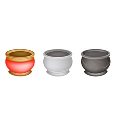 Three Chinese Incense Burner on White Background vector image