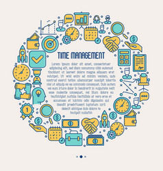 time management concept in circle vector image