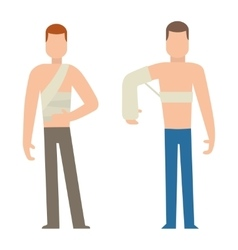 Trauma accident and human body safety vector image