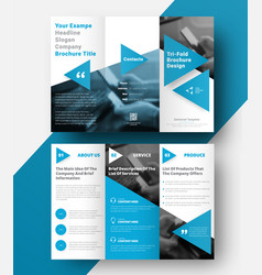 Tri-fold brochure with a place for photos vector