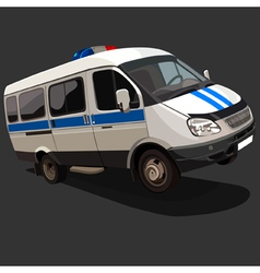 Vehicle police with flashing lights vector