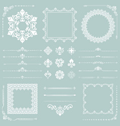 Vintage set horizontal square and round vector