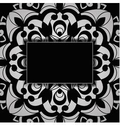 vintage wedding invitation on lacy pattern vector image