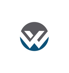 w letter business corporate logo vector image