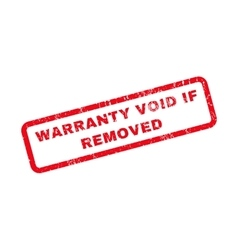 Warranty Void If Removed Rubber Stamp vector