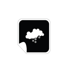 weather snowflake icons vector image