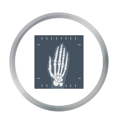 X-ray hand icon cartoon Single medicine icon from vector