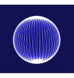 Abstract 3D sphere spiral shape vector image vector image