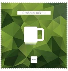 Abstract green tea polygonal background vector image