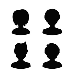 Avatar profile silhouettes of young people man vector image