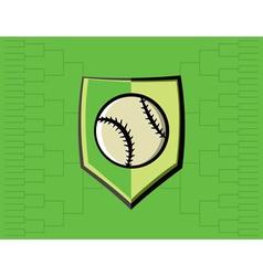 Baseball Icon Bracket vector image