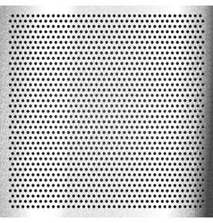 Chromium - scratched sheet metallic vector image vector image