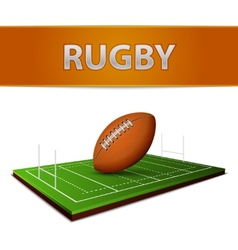 Football or Rugby Ball Emblem vector image