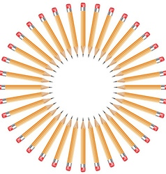 pencils arranged in a circle vector image vector image