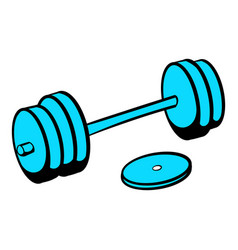 barbell icon icon cartoon vector image