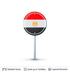 egypt flag isolated on white vector image