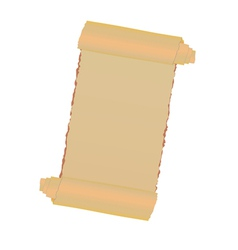 old paper roll vector image