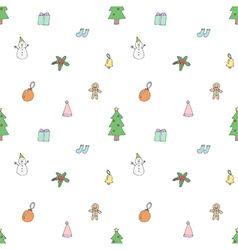 Seamless pattern of Cute Christmas Items vector image vector image