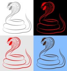 snake cobra set vector image