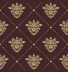vintage baroque seamless pattern vector image vector image