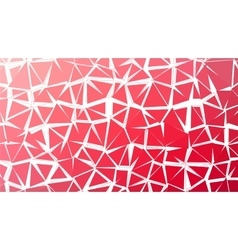 Abstract red gradient lowploly of many vector image vector image