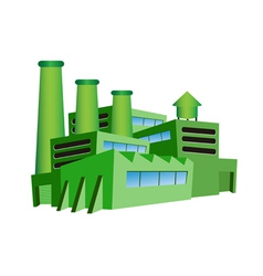 green factory vector image vector image