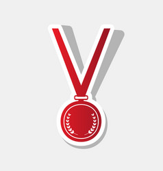 medal simple sign new year reddish icon vector image