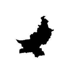 outline map of pakistan vector image