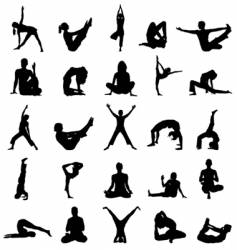 yoga positions vector image vector image