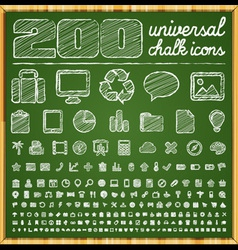 200 universal icons vector