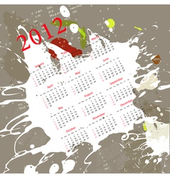calendar for 2012 on abstract background vector image