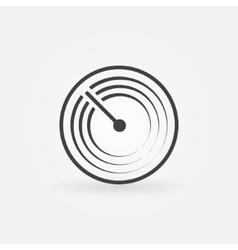 Radar simple icon vector image