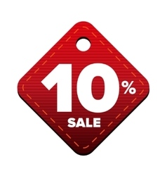 Sale ten percent pricetag red vector image vector image