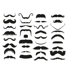 silhouette black white mustache hair vector image vector image