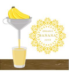the theme banana vector image