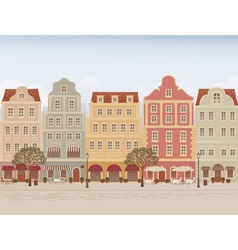 Town street vector image vector image