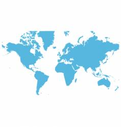 world map flat vector image