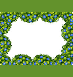 a floswer bush border vector image