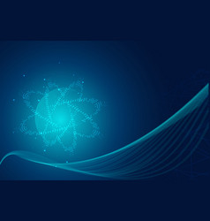 Abstract blue hitech technology background vector