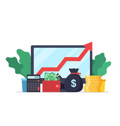 analysis web analytics and business development vector image