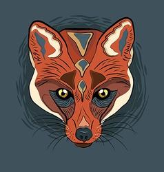 Artistic fox face vector