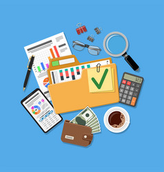 auditing and accounting concept vector image
