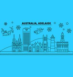 Australia adelaide winter holidays skyline merry vector